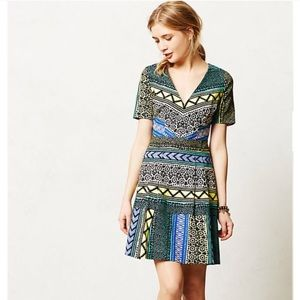 {Anthro} Gorgeous Print Dress